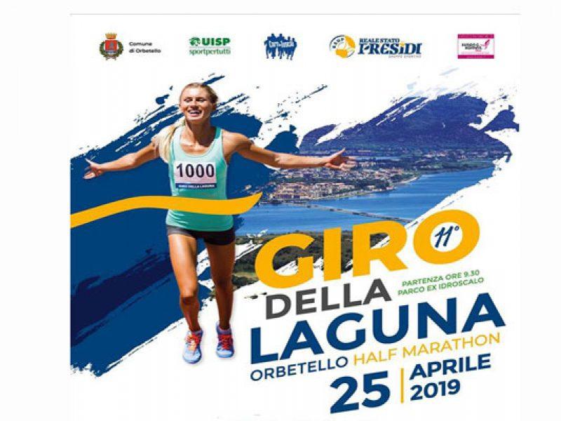 11° Giro della Laguna a Orbetello Half Marathon il 25 Aprile 2019 con partenza dal parco ex idroscalo di Orbetello alle ore 9,30